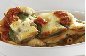 Slow baked vegetable lasagna