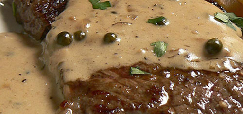 turn the pan sauce back on green peppercorn green peppercorn pan sauce ...