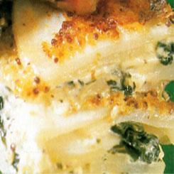 Spinach potato bake