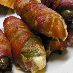 bacon wrapped chili poppers