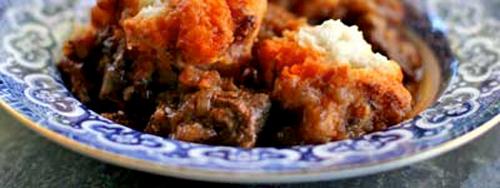 Sticky beef casserole