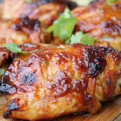 Glazed Thai chicken