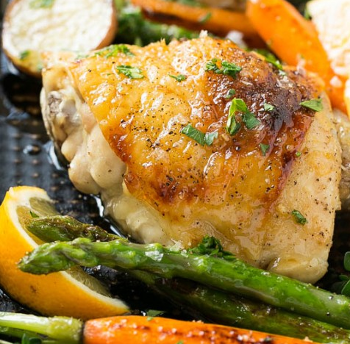 Chicken with thyme butter