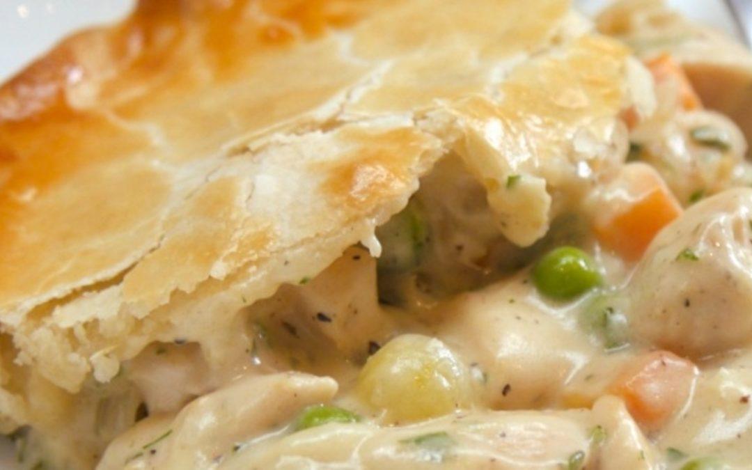 Chicken pie in a pot