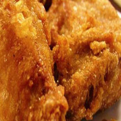 Fried fish in beer batter