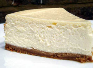 Cheesecake with a chocolate crust
