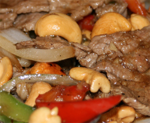 Cashew nut lamb