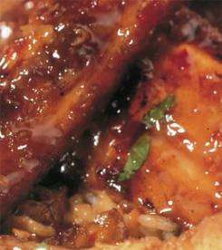 Sticky pork riblets