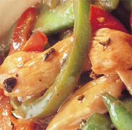 Chicken and sweet peppers stir fry