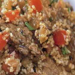 North African beef with couscous