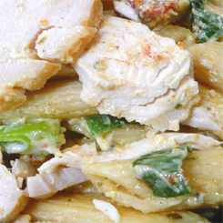 Quick chicken pasta salad