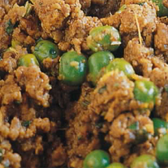 Curried mince with peas