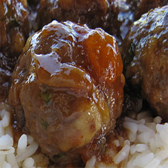 Meatballs and gravy