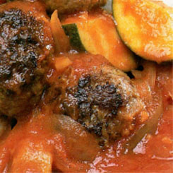 Meatballs with Ratatouille