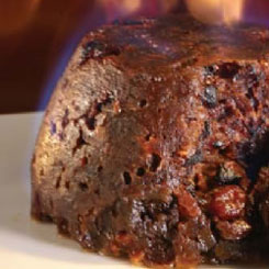 Traditional steamed Christmas pudding