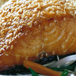 Baked Sesame salmon