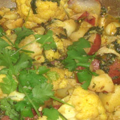 Aloo Gobi - califlower and potato curry