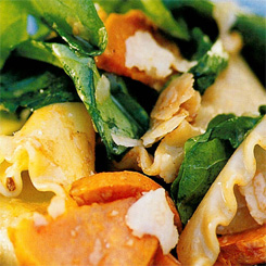 Roast butternut pasta salad