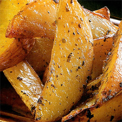 Easy potato wedges