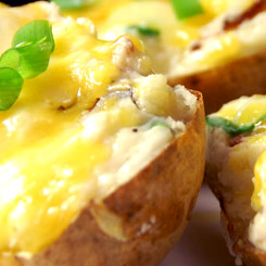 Cheese baked potatoes