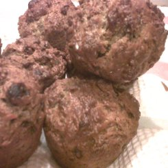 Raisin and bran muffins
