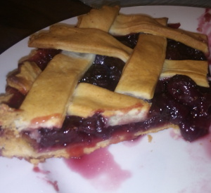 Cherry pie recipe (tinned cherries)