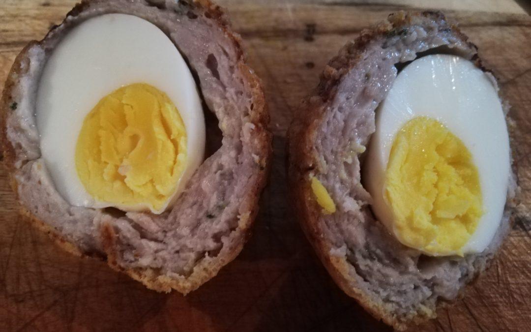 Southern fried scotch eggs