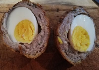 scotch eggs with southern fried coating
