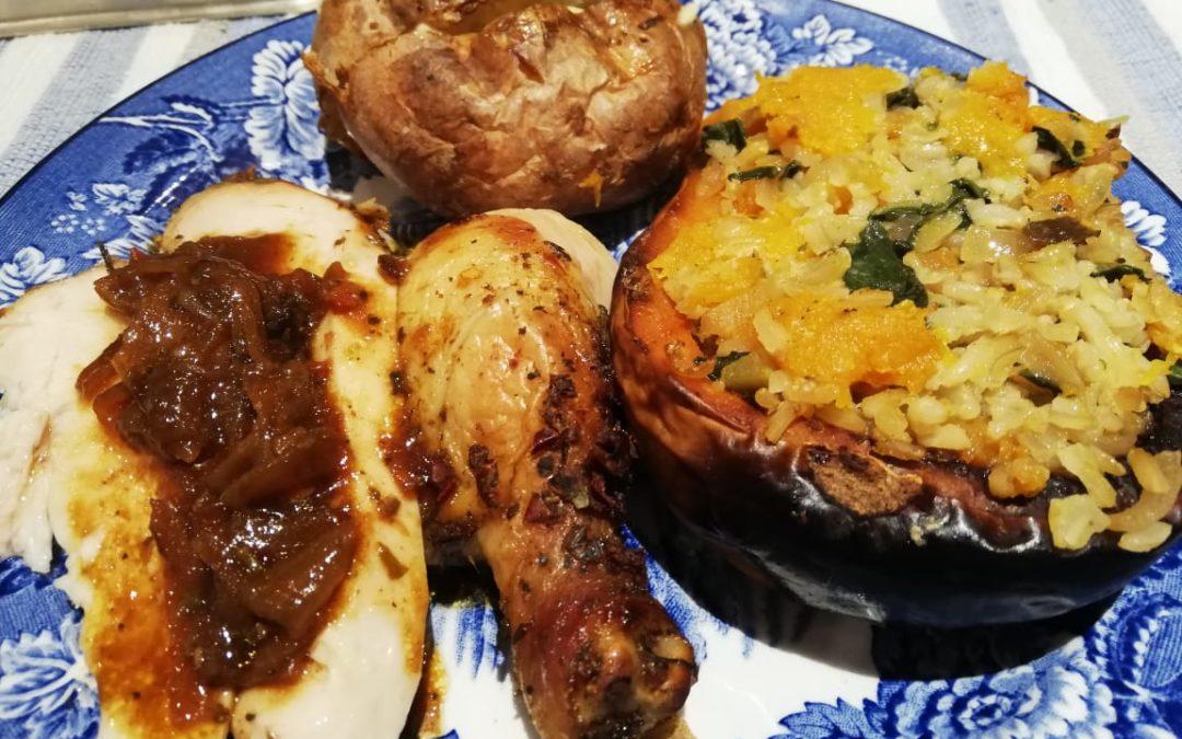 Roast stuffed butternut